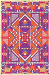 Patron basado en el arte de la cultura maya