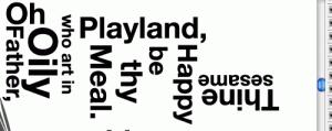 Tipografía posicionada