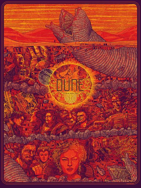 """Una de las ilustraciones de Kevin Tong- """"Dune"""""""