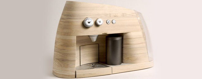 Cafetera de madera