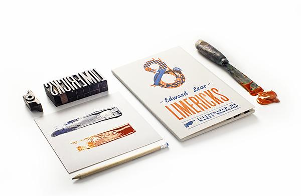 Marta Monteiro Ilustra Los Limericks De Lear Para Obsolete Letterpress Experimenta 04