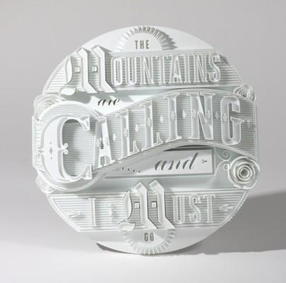 Tipografía 3D, Ben Johnston y Mark Simmons, 2014.