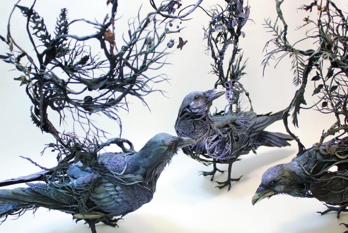 Surrealist sculptures of animals