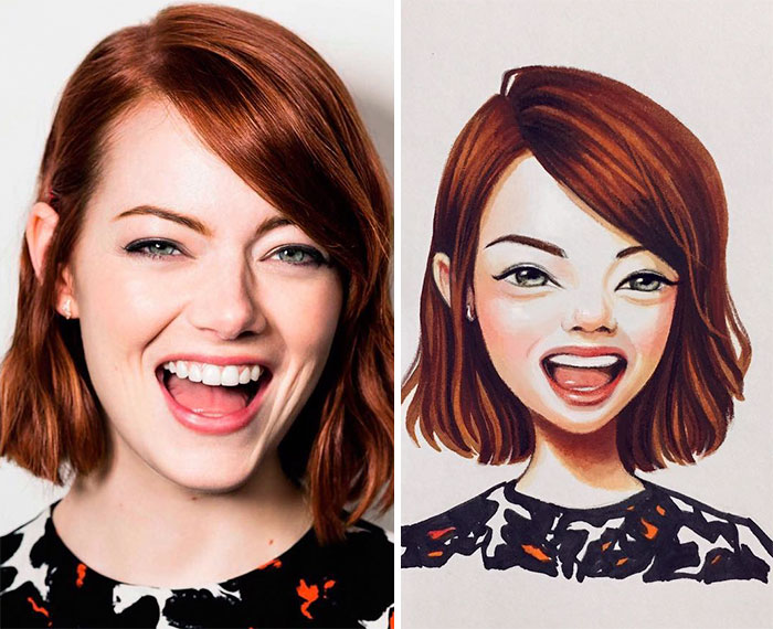 Cute Cartoons Celebrities Portraits Lera Kiryakova Russia 1
